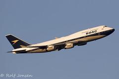 G-BYGC Boeing 747-400 British Airways Heathrow airport EGLL 25.02-19 (rjonsen) Tags: plane airplane aircraft aviation airliner retro liver special ba100 flying jumbojet queen skies flight