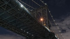 Manhattan Bridge Pan Tilt TL UHD with music (Michael.Lee.Pics.NYC) Tags: newyork manhattanbridge timelapse night pan tilt eastriver video brooklynbridgepark clouds sky bridge sony a7rm2 fe24105mmf4g
