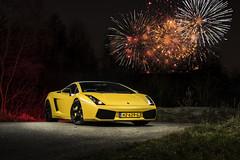 Lamborghini Gallardo (Bas Fransen Photography) Tags: fireworks happy2019 2019 new newyear newyearseve christmas2018 lamborghinigallardo dutchlamborghinigallardo yellowlamborghinigallardo