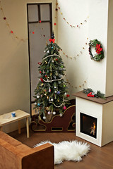 Christmas tree (kinmegami) Tags: christmastree christmas doll toys miniature barbie roombox diorama 16 rement moominnordiccafe