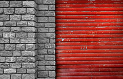 composition - 31 (Rino Alessandrini) Tags: red brick backgrounds wallbuildingfeature pattern architecture constructionindustry woodmaterial old material textured backdrop rough stonematerial brickwall builtstructure buildingexterior concrete cement flooring everypixel