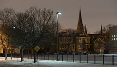 South Chicago (urbsinhorto1837) Tags: chicago city light night outdoors snow southchicago stmichaelthearchangel steeple urban
