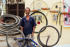 Bicycle Repairman, Varanasi India (AdamCohn) Tags: adam cohn ganga ganges india uttarpradesh varanasi bicycle parts repair streetphotographer streetphotography vendor wwwadamcohncom adamcohn