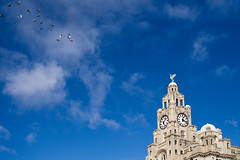 Liver Birds (nickcoates74) Tags: 30mm 30mmf28dn a6300 artlens february ilce6300 liverpool pierhead sigma sony uk affinityphoto