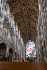 IMG_5216 West Window and Nave (Beth Hartle Photographs2013) Tags: norfolk norwich cathedral anglican ancient historic benedictine monastery churchofengland ceilingvaulting 13thcentury