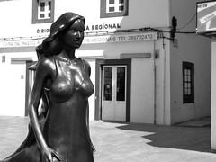 Mythical Moorish Woman (jameswoo2) Tags: woman sculpture moorish portugal bw street mythical buildings olhao