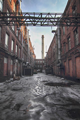 Industrial object (KAS_85_) Tags: architecture saintpetersburg canon reflect outside outdoor walk industrial city oldcity metal snow ice sky europe russia nice photo loft alone hdr tokina 1116 550d canon550d