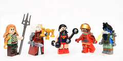 The Justice Union of 1887! (Andrew Cookston) Tags: lego dc comics steampunk figbarf custom minifigs aquaman wonderwoman superman theflash barryallen theatom raypalmer macro toy still life photography andrew cookston andrewcookston
