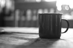 Morning Joe (aaron_gould) Tags: coffee cup blackandwhite bw monochrome bokeh home nikkor 35mm inside art light d7000