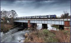 Something borrowed, something blue (Blaydon52C) Tags: class170 northernrail transpennine first arriva huddersfield mirfield dewsbury yorkshire railway rail railways railfreight trains train transport dmu