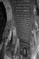 Golden Chapel 7 (PhillMono) Tags: nikon d7100 sicily italy travel tourist history heritage architecture monreale gold cathedral church norman arch black white sepia monochrome