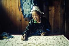 Wax drawing for batik (snowpine) Tags: people portrait china chinese oldlady oldwoman waxdrawing batik traditional guizhou sigma35mmart