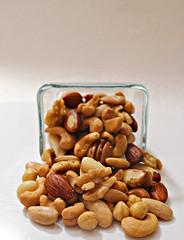 2019 Sydney: Roasted Mixed Nuts (dominotic) Tags: 2019 food snackfood roastedmixednuts cashewnuts walnut hazelnut almond macro foodphotography yᑌᗰᗰy sydney australia