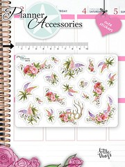 Flower Stickers Floral Stickers Cute Flower Stickers Planner Stickers Erin Condren Functional Stickers Decorative Stickers NR719 by EmelysPlannerShop (emelysplannershop.com) Tags: planner stickers icon accessories functional daily agenda organizer live emelysplannershop