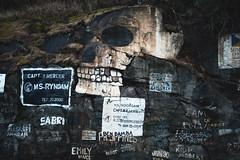 (i threw a guitar at him.) Tags: skull death dock pier harbour port alaska graffiti paint mountain side skagway march 2019 nikon df