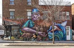 Café Névé (The Montreal Buzz) Tags: cafeneve rachel plateaumontroyal graffitiart graffiti montreal mural murale vélo bicyclette bike bicycle
