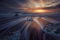 Ice & Fire (Atfunk Photography) Tags: iceland canon eos r diamond beach sunrise
