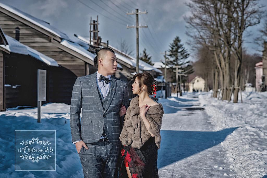 海外婚紗攝影,日本北海道,開拓之村,札幌婚紗,雪國雪地雪景