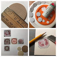1. Plate making (Foxy Belle) Tags: doll miniature dishes make handmade ooak diy craft 16 scale tutorial how