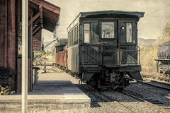 All Aboard! (Eclectic Jack) Tags: eastern oregon trip october 2018 rural agriculture farm farming autumn fall mountains abandoned house structure home rail train post process processed processing railway valley sumpter
