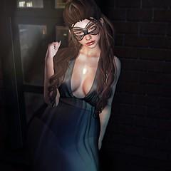 50 Shades of IDGAF (Chelsea Chaplynski ( Amity77 inworld)) Tags: secondlife avatar female limerence hair mask rare carnival gacha epiphany fameshedx helena dress narcisse 50 shades chelsea fashion