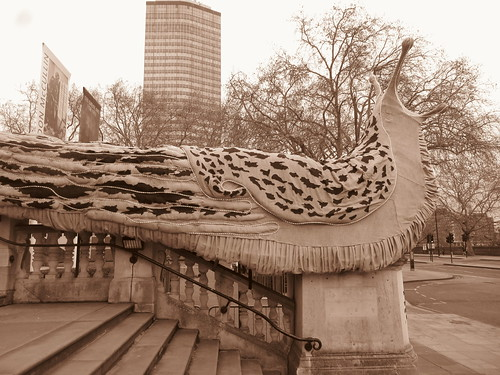 Giant Leopard Slugs 2018, Monster Chetwynd (Artist), Tate Britain, Millbank, SW1, City of Westminster, London