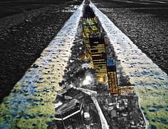 Untitled two (rockindave1) Tags: london yellowlines toned road lines cityscape adobephotoshopcs5 dxoopticspro11