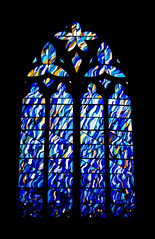 SAS Ascension Window (judy dean) Tags: judydean 2019 lensbaby hereford cathedral johnmaine window stainedglass sasmemorial blue 365the2019edition 3652019 day47365 16feb19