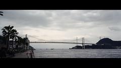 関門橋 (Steve only) Tags: olympus μ u mju ii μii mjuii 喵兔 stylusepic 3528 35mm f28 rf rangefinder kodak colorplus 200 film epson gtx970 v750 landscape japan sky cloud bridge sea