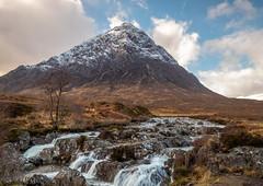 Scottish scenery at its most beautiful. (judepics) Tags: longexposure buachaille highlands mountain river scotland snow water winter glencoe buachailleetivemor