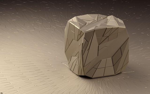 Обои арт, куб, линии, рендер, фигура, треугольники, грани картинки на рабочий стол, фото скачать бесплатно