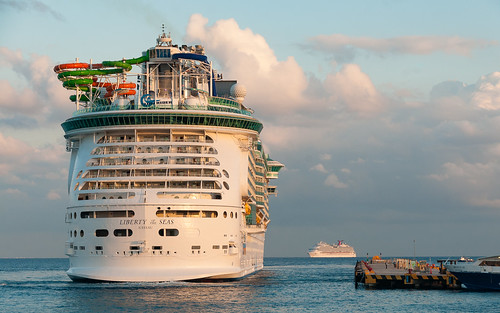 Liberty of the Seas docking in Cozumel - Mexico