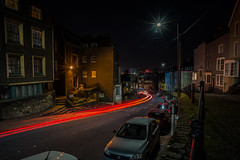 The city artery flows red...... (Dafydd Penguin) Tags: city artery blood pumps red light trails long exposure slow shutter speed tripod after dark night shots hawks urban district hill historic bristol uk stars stripes sunstars lightstarsleica m10 21mm elmar super f34 asph