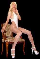 0111 (Youko_Kishida) Tags: fetish crossdresser tgirl leotard crossdressing pantyhose stocking tights lycra