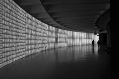 small talks in the dark (Lamson/Ng) Tags: dc urban hirschorn museum bw mono monochrome lamson city dark shadow q patterns light talk