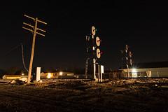 Cortland, Illinois (Nolan Majcher) Tags: up union pacific geneva sub subdivision cortland il illinois cnw signals searchlights