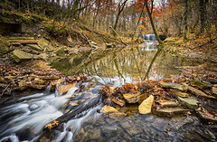 Late Fall Hidden Falls 4 - Nerstrand Big Woods State Park, MN (j-rye) Tags: sonyalpha sonya7rm2 ilce7rm2 mirrorless landscape stream water trees rocks leaves fall waterfall rokinon12mmf20 forest nerstrandbigwoods minnesota wood river 1620rg