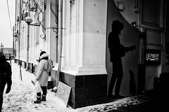 Untitled (Mihail Nogin) Tags: ifttt 500px winter wall corner graffity girl woman blackandwhite monochrome dog guitar