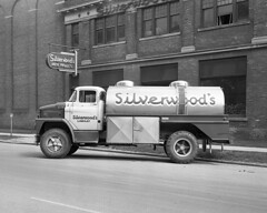 Silverwood's Diary Truck; 1960 Dodge 700 at Lindsay, Ontario (Houghton's RailImages) Tags: bw trucks trucking diary silverwood lindsay ontario milk canada