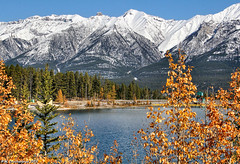 Mount Rundle at Grassi Lakes Canmore in Alberta Canada (PhotosToArtByMike) Tags: mountrundle grassilakes canmore albertacanada alberta bowvalley canadiancity southerncanadianrockymountains canmorenordiccentreprovincialpark town city rockymountains provinceofalberta bowriver