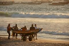 Boat transport (s_andreja) Tags: mauritania nouakchott sunset sea ocean people boat fishermen sky water bird fishing