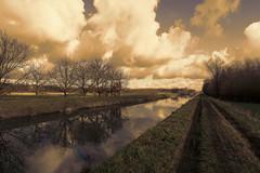 'Klein Sinaai' - Belgium (roland_tempels) Tags: water nature belgium kleinsinaai supershot sky clouds