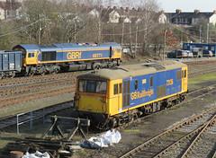 73136 & 66771 Tonbridge Feb 2019 (Ado Griff) Tags: gbrf tonbridgewestyard 73136 class73 66771 class66 e6043 mhairi kentyouthmusic perseverance