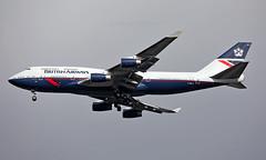 G-BNLY - Boeing 747-436 - LHR (Seán Noel O'Connell) Tags: britishairways ba speedbird landor gbnly boeing 747436 b747 b744 747 heathrowairport heathrow lhr egll 27r dub eidw ba833 baw100y retro aviation avgeek aviationphotography planespotting