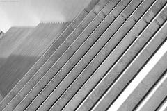 Dortmund 5/831 (KnutAusKassel) Tags: bw blackandwhite blackwhite nb noirblanc monochrome black white schwarz weiss blanc noire blanco negro schwarzweiss grey gray grau einfarbig abstrakt abstract geometrisch treppen stairs