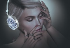 In ecstasy.. (✰✰Nubyia Photography✰✰) Tags: blogging blog portrait treizeddesigns headphone face fashion secondlife sl avatar virtualworld