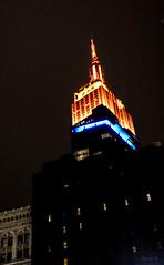 Empire State Building all Lit Up (Jocey K) Tags: empirestatebuilding sonydscrx100m6 triptocanadaandnewyork architecture buildings evening illumination nighttourhopandhopoffbus newyorkcity