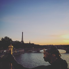 City of Lights (rbranchini) Tags: sunset statue waterview vacation summer2018 eiffeltower historical paris