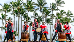 Taishoji Taiko (mutrock) Tags: taishojitaiko drums hawaii bigisland hilo hawaiianislands usa unitedstates 2018 veteransdayparade parade palms