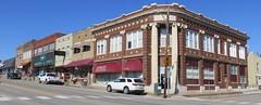 Old Cleburne County Bank Block (Heber Springs, Arkansas) (courthouselover) Tags: arkansas ar cleburnecounty hebersprings banks downtowns arkansasozarks ozarkmountains northamerica unitedstates us
